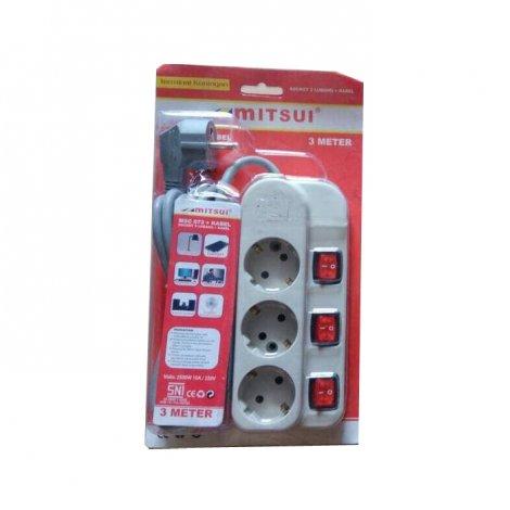 Mitsui Stop Kontak Plus Kabel On Off MSC 073